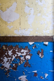 Nice peeling paint in the attached school.