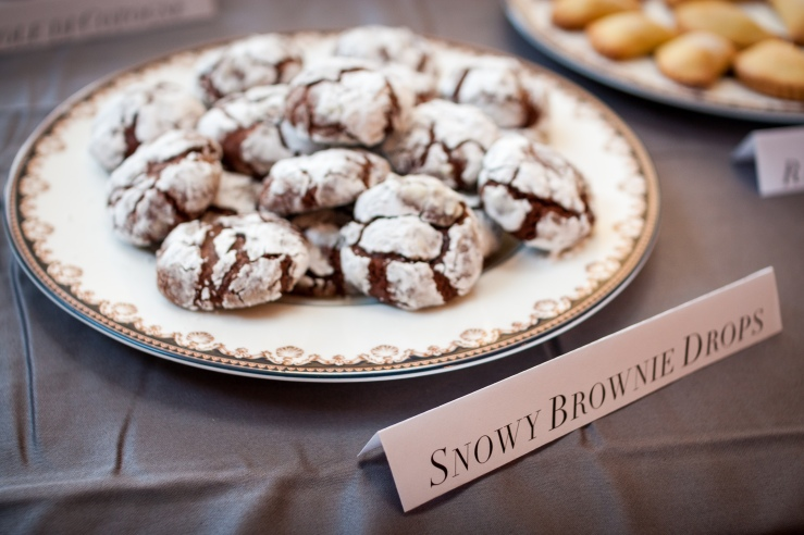 Snow Brownie Drops
