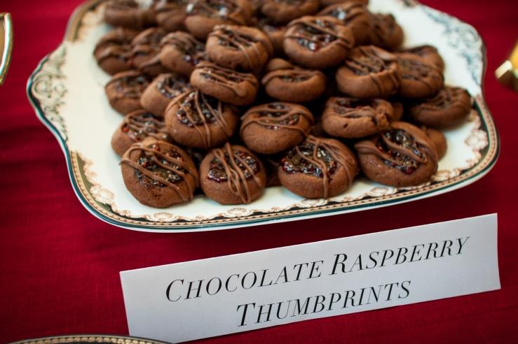 Chocolate Raspberry Thumbprints